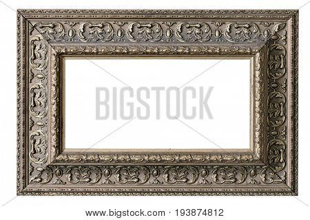 isolated blank elegance classic photo frame with clipping path
