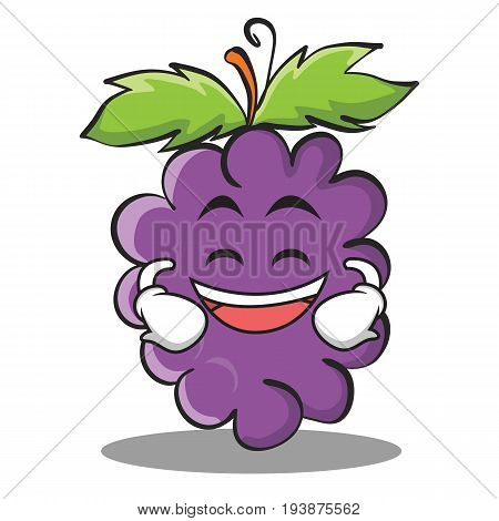 Grinning grape character cartoon collection vector illustration