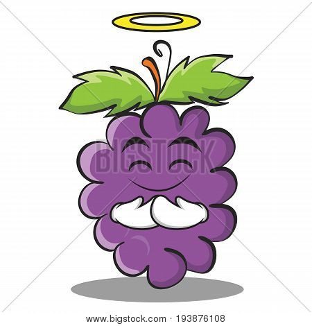 Innocent grape character cartoon collection vector illustration
