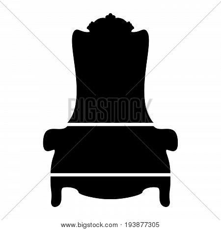 Throne The Black Color Icon .
