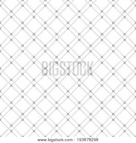 Geometric dotted vector light gray pattern. Seamless abstract modern texture for wallpapers and backgrounds