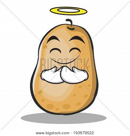 Innocent potato character cartoon style vector art