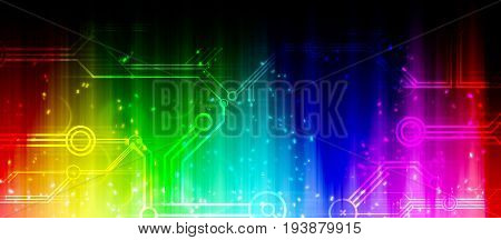Modern rainbow colored background with glittering effects