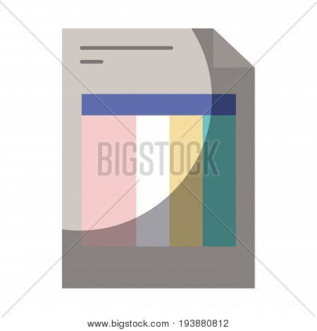 colorful silhouette of invoice form with half shadow vector illustration