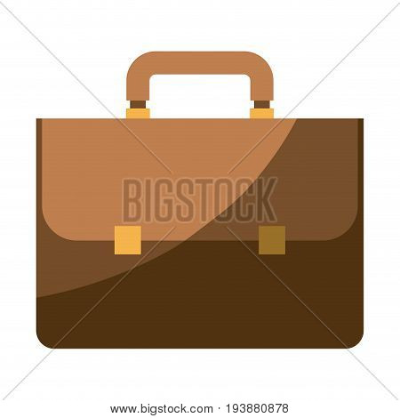 colorful silhouette of executive briefcase with half shadow vector illustration