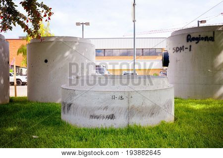 Large concrete pipe for an underground sewage pipeline