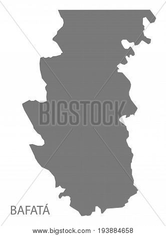 Bafata Guinea-Bissau map grey illustration silhouette shape