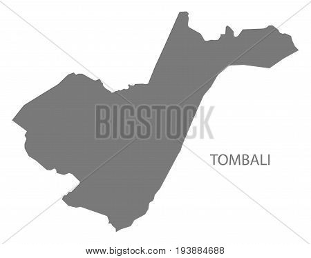 Tombali Guinea-Bissau map grey illustration silhouette shape