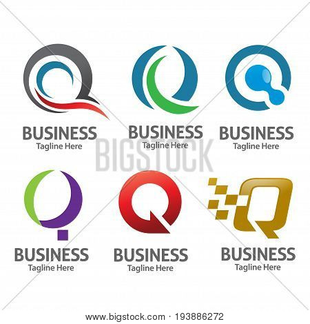 modern and  vector of letter Q logo set  concept,  creative Q letter logo set