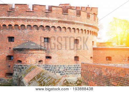 Fortification Bastion Tower Der Dohna Turm. Amber Museum. Kaliningrad, Russia. Konigsberg East Pruss