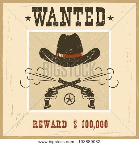 Wanted Card.western Vintage Paper