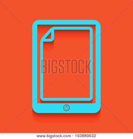 Protective sticker on the screen. Vector. Whitish icon on brick wall as background.