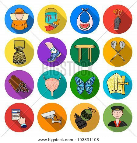 , competitions, business, ecology and other  icon in flat style.sport, recreation, army icons in set collection
