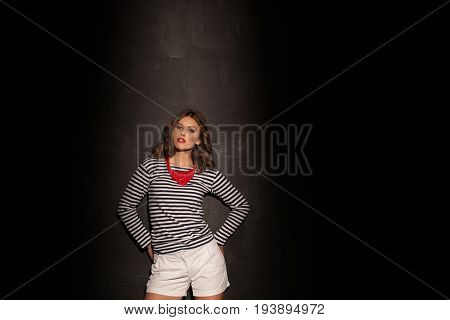 girl pinup fashion styles on black background 1