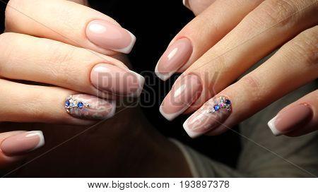 Youth, beautiful manicure design gel varnish 2017