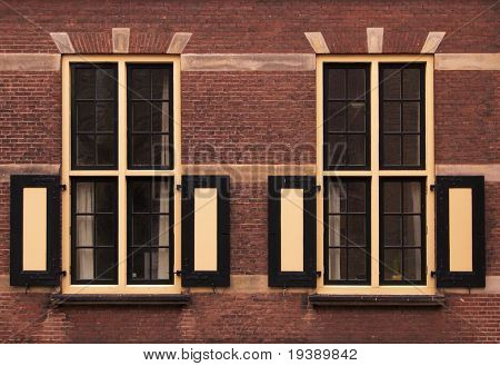 A wall with two Holland windows