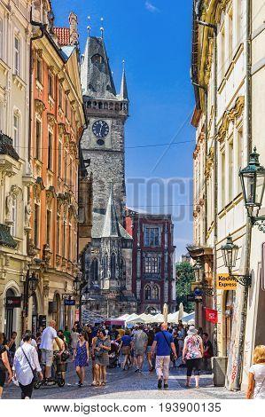 Celetna Lane Celetna Ulice , Old Town Stare Mesto , Prague, Czech Republic