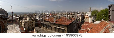 The Roofs Of Istanbul And The View Of The Yellow Sea