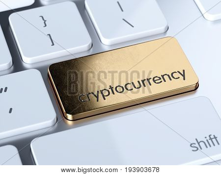 Golden Cryptocurrency Button