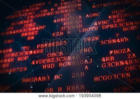 Digital Technology Computer Background Data Screen