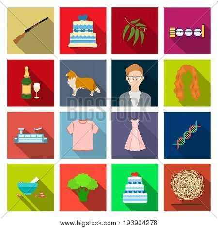 business, ecology, natureand other  icon in flat style., nest, industry, hobbies icons in set collection.
