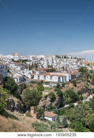 Palacio de Mondragon - Plaza Mondragón Ronda - views of the San Francisco district Ronda Andalusia Spain