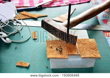 Leather Craft Tools Or Equipment For Made Handcrafted Genuine Leather Pocket