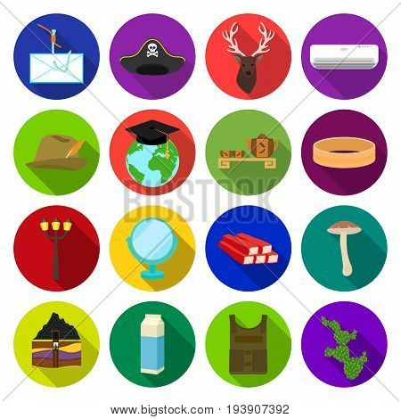business, leisure, tourism and other  icon in flat style.cactus, nature, ecology icons in set collection.