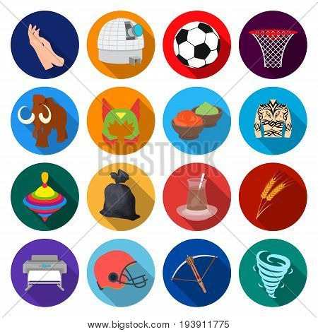 , business, agriculture, hobbies and other  icon in flat stylehistory, competitions, ecology. icons in set collection.