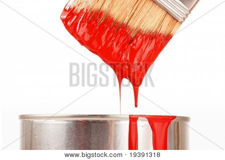 Taking red paint