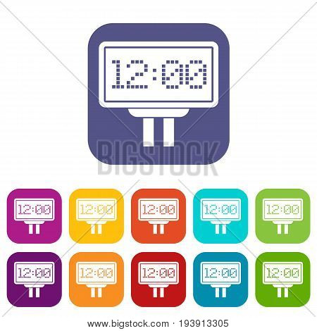 Scoreboard icons set vector illustration in flat style In colors red, blue, green and other