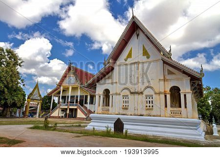 Church and cloud sky at rural  Mukdahan county ofThailand