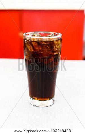 Cocacola ice soda pop - color filter processing.