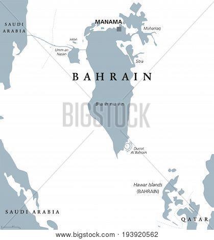 Bahrain Political Map Vector & Photo (Free Trial) | Bigstock