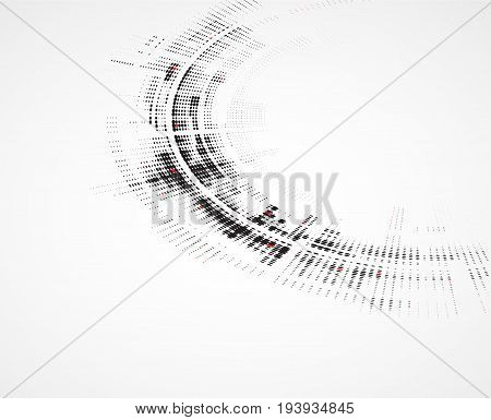 Abstract round technology dynamic fade retro background black and red