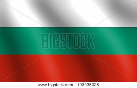 wavy bulgarian flag - Bulgaria flag 3d illustration