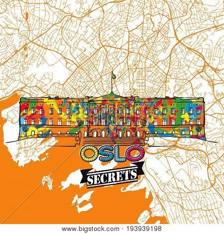 Oslo Travel Secrets Art Map