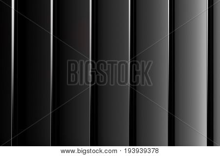 Abstract stripped black gradient background. 3d rendering