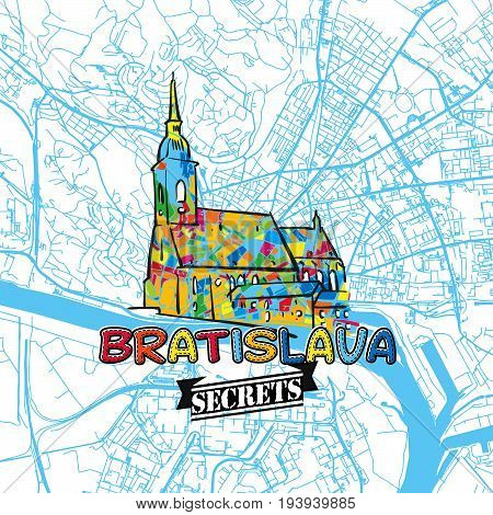 Bratislava Travel Secrets Art Map