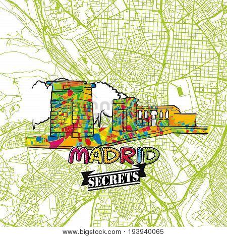 Madrid Travel Secrets Art Map