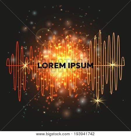 Music beat equalizer vector backgound. Sound beats banner club illustration