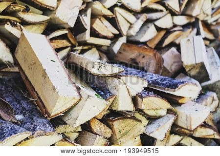 once a pile of broken wood shed