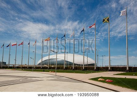 Sochi, Russia - May 16: Construction Of Ice Hockey Rink In The Sochi Olympic Park In May 16, 2012 In