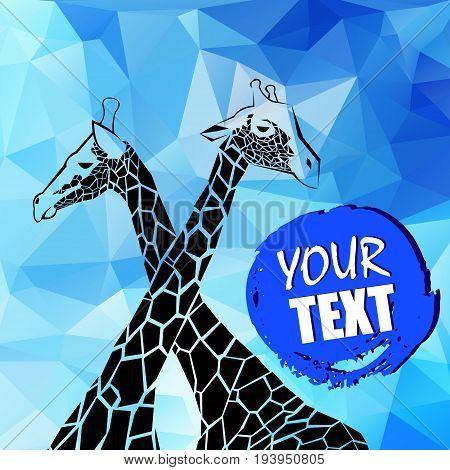 giraffe vector animal wild african tall nature