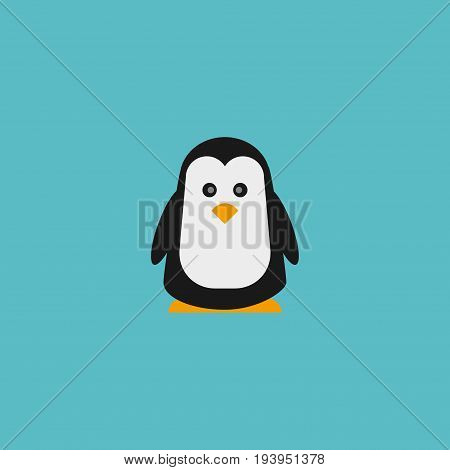 Flat Icon Penguin Element. Vector Illustration Of Flat Icon Emperor Isolated On Clean Background. Can Be Used As Penguin, Polar And Emperor Symbols.