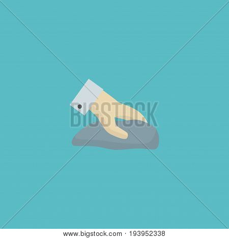 Flat Icon Wiping Element. Vector Illustration Of Flat Icon Towel Isolated On Clean Background. Can Be Used As Towel, Wiping And Cleaning Symbols.