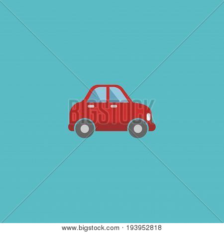 Flat Icon Automobile Element. Vector Illustration Of Flat Icon Car Isolated On Clean Background. Can Be Used As Car, Vehicle And Automobile Symbols.