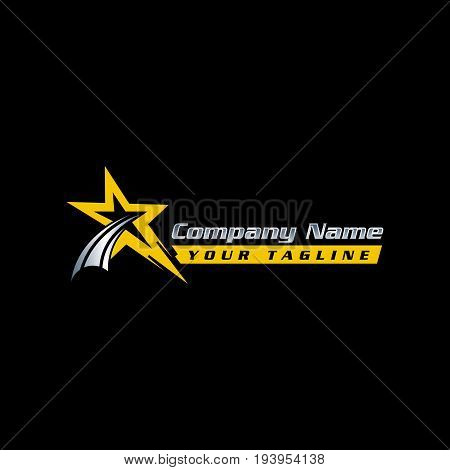 Star logo - vector logo concept illustration. Star and stripes vector logo. Star abstract logo. Vector logo template. Design element.eps8,eps10