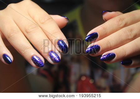 Evening Manicure Nail Design