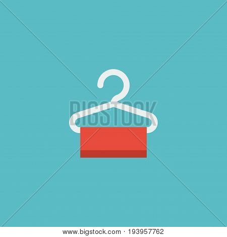 Flat Icon Hanger Element. Vector Illustration Of Flat Icon Dress Stand  Isolated On Clean Background. Can Be Used As Dress, Stand And Hanger Symbols.
